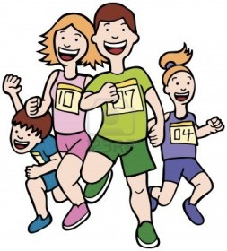 5163255-family-run-art--cartoon-of-a-family-running-together-in-a-racing-event